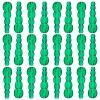Plastic Stacking Beads Transparent Dark Green
